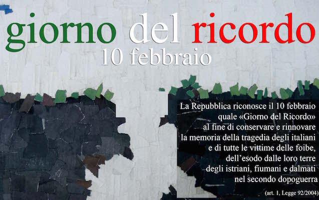 Giorno del ricordo 10 febbraio