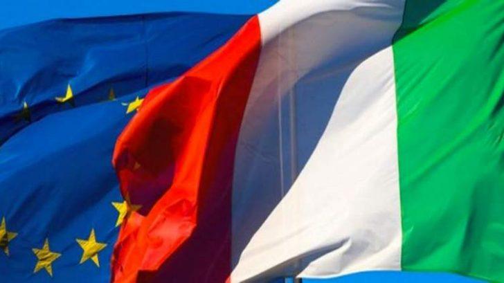 Bandiera italiana ed europea
